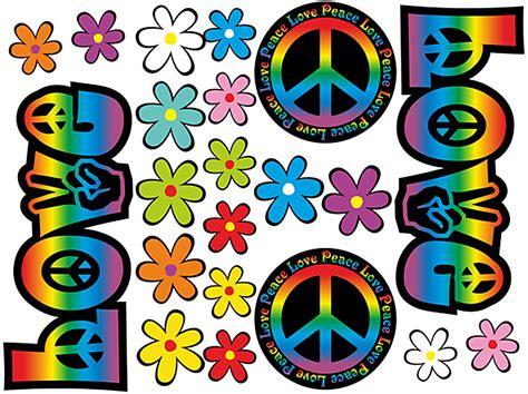 Aufkleber Auto Peace by Blumen Aufkleber Hippie Blumen Autoaufkleber Flower Power