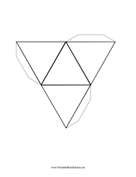 printable 8 sided dice template printable blank 4 sided die