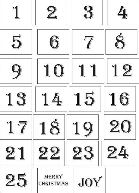 printable large numbers 1 25 calendrier de l avent derniers d 233 lais tout un fil