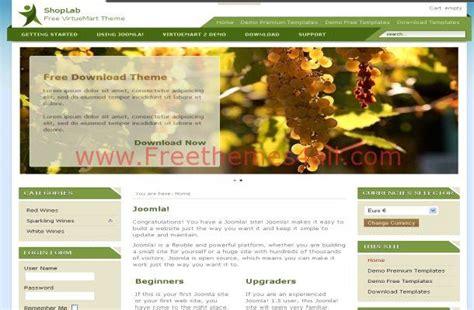 Green Shop Virtuemart Cart Joomla Theme Template Joomla Shopping Cart Template Free