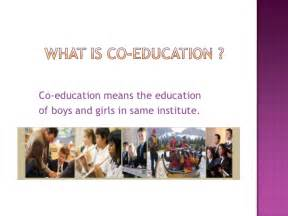 Co Education In Essay by Coeducation