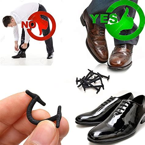 silkies no tie shoelaces for dress shoes silicone elastic shoe strings oxford ebay