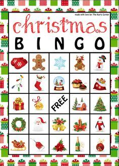 free printable christmas bingo cards christmas