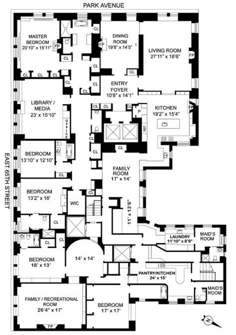 820 fifth avenue floor plan 625 park avenue floor plans pinterest
