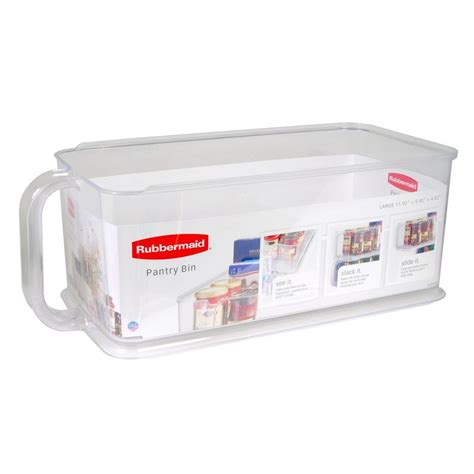 rubbermaid large pantry bin 1951587 the home depot