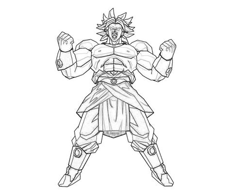 broly free coloring pages