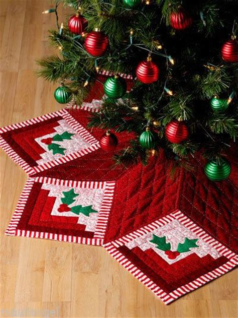 christmas tree skirt log cabin quilts 7 methods 30 design