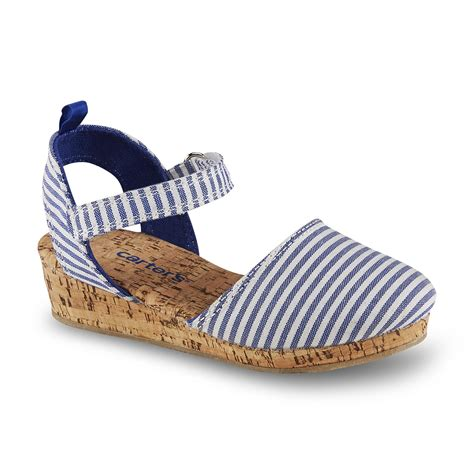 Erotokritos Blue And White Stripe Wedge by S Toddler S 3 Blue White Striped Wedge