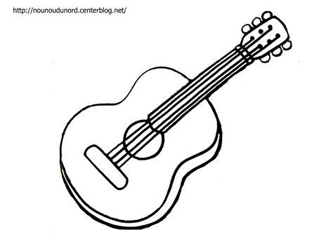 Coloriage Guitare Et 224 Gommettes A Colorier