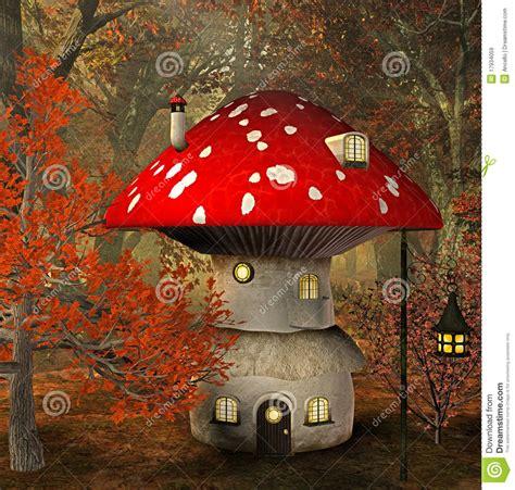 mushroom house design mushroom house stock illustration image of landscape 17934059