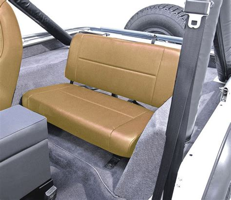 aftermarket bench seat rugged ridge rear standard bench replacement seat