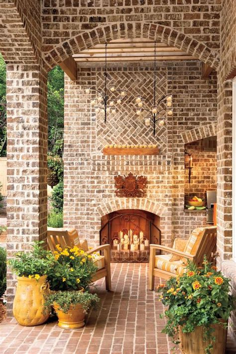 26 decorative southern living fireplaces home plans 17 best images about porches patios courtyards gardens
