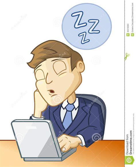am schlafen schlafen am schreibtisch vektor abbildung bild 46416584