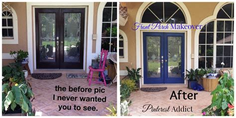 Front Porch Makeover Before And After front porch makeover addict