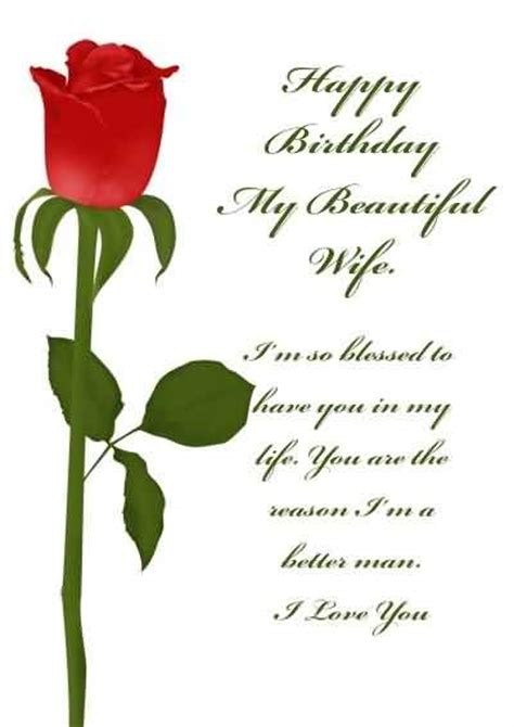printable birthday cards for a wife birthday wishes for wife page 39 nicewishes com