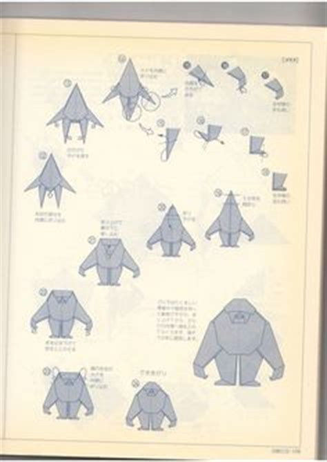 How To Make A Gorilla Out Of Paper - 1000 images about origami on origami owl
