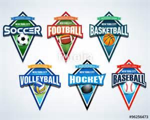 sport t shirt design templates quot sport team logo emblems badge pennants t shirt apparel