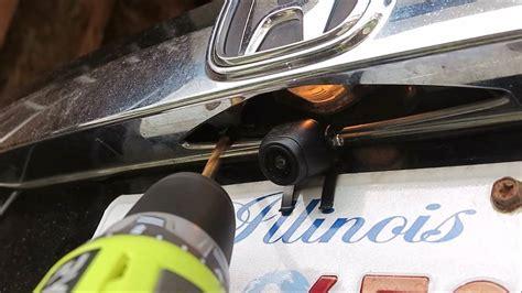 install wireless backup camera  honda cr  youtube