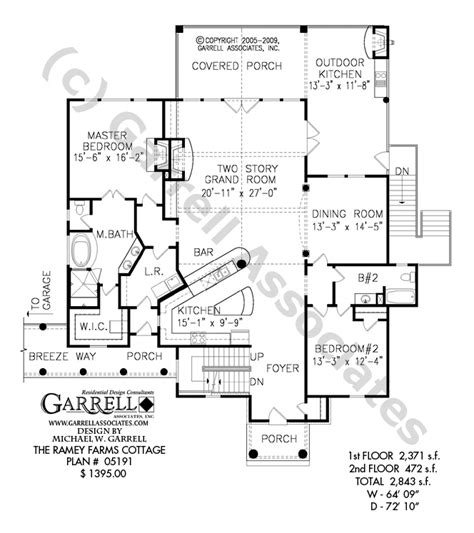 house plans with kitchen in front ramey farms cottage house plan house plans by garrell
