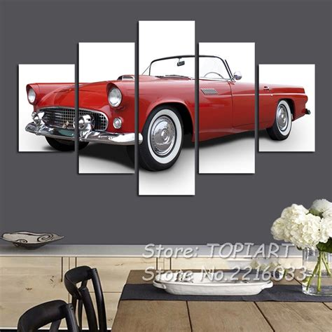 Classic Car Home Decor by Aliexpress Buy 5 Pieces Classic Car Print Wall Decor