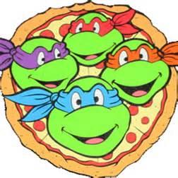 tmnt fighting pizza