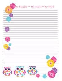 free printable owl stationery classroom compulsion a cute owl freebie