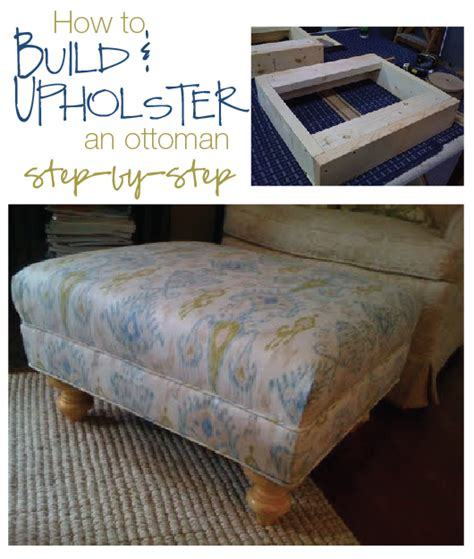 how to build an ottoman furniture reincarnated how to build and upholster an