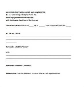 Simple Contractor Agreement Template by Contractor Agreement Template 10 Free Word Pdf