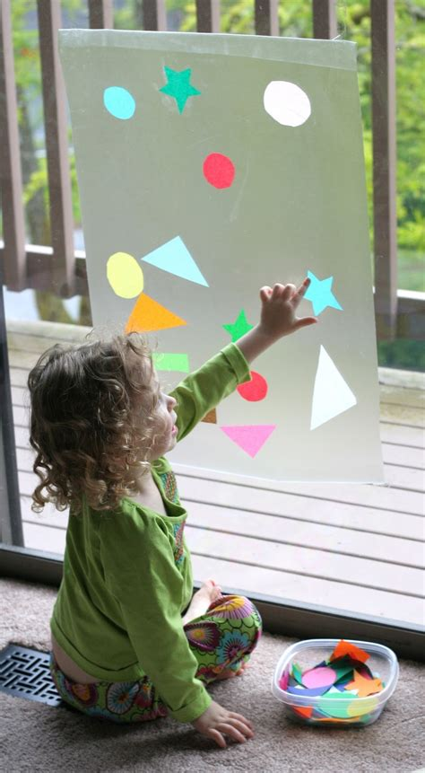 Contact Paper Craft Ideas - contact paper window