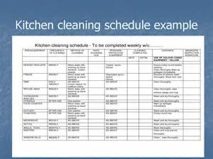 Kitchen Equipment Schedule Cleaning And Disinfection In The Kitchen Chapter 6