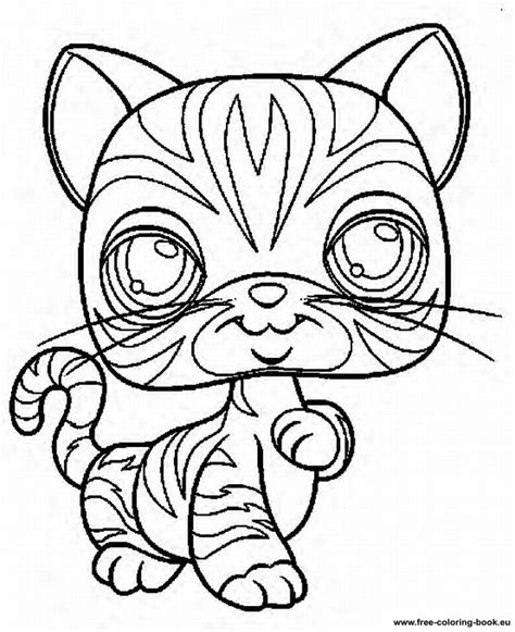 coloring pages lps littlest pet shop cat coloring pages pictures to pin on