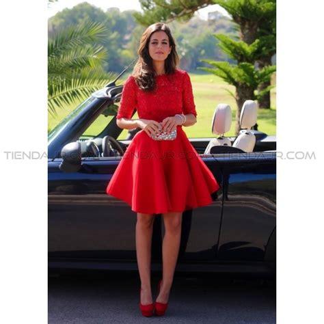 vestido corto elegante vestido elegante corto rojo manga 3 4 escote en la espalda