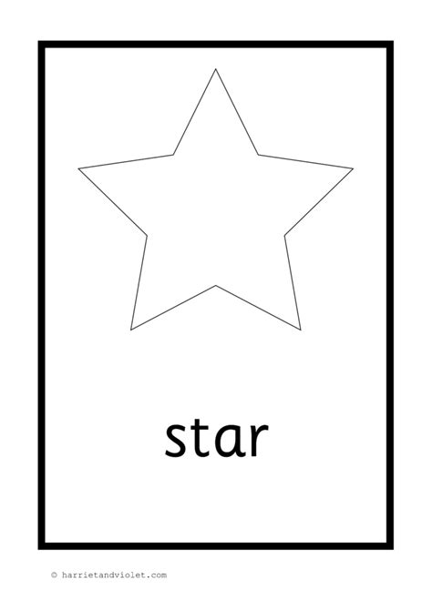 shape posters  flash cards  black white