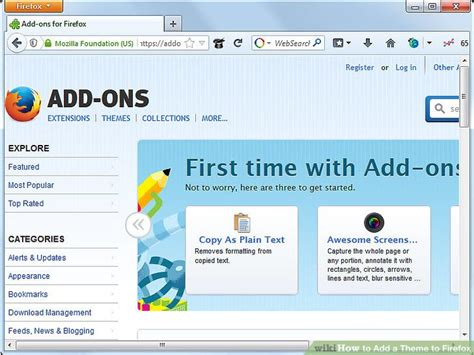 firefox themes how to how to add a theme to firefox 6 steps with pictures