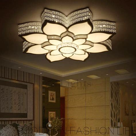 Wall Sconce Lighting Fixtures Simple Lotus Shaped Wrought Iron Ceiling Light Fixtures Led