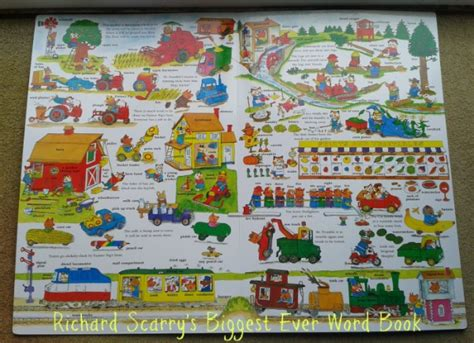 picture word book richard scarry s word book friendly