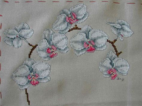 Broderie Points Comptés Grilles Gratuites by Grille Gratuite Broderie Orchid 233 E