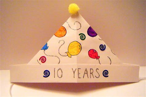 Origami Birthday Hat - easy origami birthday hat origami birthday ideas for