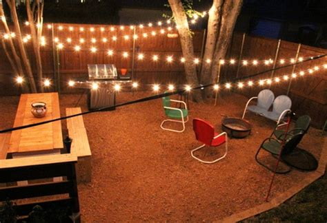 backyard string light ideas outdoor led string lights battery operated outdoor