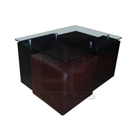 mesa centro sala alba mesa de centro con puff jp stylos muebler 205 a