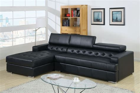 black bonded leather match modern home theater sectional sofa cm6122bk floria black bonded leather match sectional from