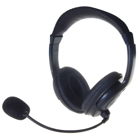 Headphone Mic Computer Gear Stereo Padded Headphones And