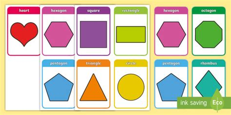 shape flash cards template 2d shape flashcards 2d shape 2d shape flashcards flash