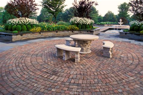 Exterior : Brick Walkways Patios Come With Circle Brick