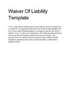 waiver of responsibility template release of liability form waiver of liability template
