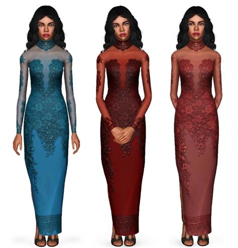 Bonna Dress mod the sims buona sera dress for