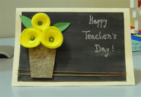 Teachers Day Card Handmade - teachers day greeting cards and ideas 2016