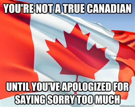 Canada Day Meme - you re not a true canadian until you ve apologized for