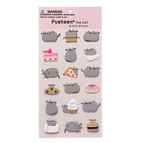 Boneka Pusheen Cat Kucing Grey Abu Abu gund pusheen sticker sheet paper multi colour 1 x 9 x 15 cm buy in uae