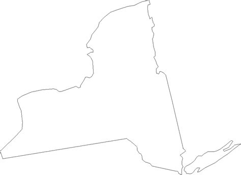 printable map new york state new york state outline printable